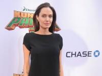 Angelina Jolie, aparitie ingrijoratoare pe covorul rosu, intr-o rochie neagra scurta. Cum a fost surprinsa vedeta