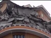 Cladire din Roma, prabusita dupa ce un locatar a facut cateva reparatii in casa. Zece familii, afectate de incident