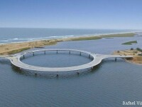 Un pod in forma de cerc uimeste o intreaga lume. Motivul pentru care arhitectii au ales sa-i dea aceasta forma