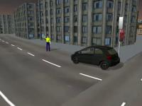 Politist rutier din Capitala, lovit cu masina de un sofer agresiv, care nu a vrut sa opreasca la semnal. ANIMATIE GRAFICA