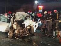 O femeie si un copil au murit dupa ce masina in care se aflau s-a izbit de un TIR, langa Bucuresti. FOTO