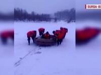 Au incercat sa traverseze pe jos Dunarea inghetata. Ce s-a intamplat cu cei doi pescari din Dolj