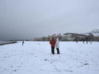 Drumuri inchise si cursuri suspendate in Spania, dupa ninsori neobisnuite. Oamenii nu au mai vazut zapada de 30 de ani. FOTO