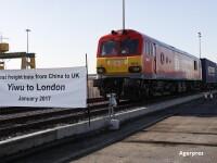 """Noul """"Drum al Matasii"""" ocoleste Romania. Primul tren a ajuns din China in Marea Britanie, dupa 18 zile si 12.000 km parcursi"""