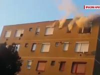 O batrana din Carei a murit incercand sa scape din apartamentul in flacari. De la ce a pornit incendiul