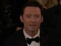 Reacția lui Hugh Jackman când a pierdut premiul pentru cel mai bun actor într-un film de comedie