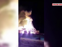"""Biserică din lemn, din Suceava, arsă complet în incendiu: """"Se vedeau flăcări de la 5 km"""""""