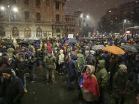 Jurnaliștii străini, foarte impresionați de românii care au protestat sub zăpadă și ploaie