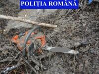 Adolescent suspectat că a îngropat bunurile furate, în spatele unei case din Dâmbovița
