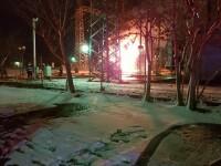 Incendiu izbucnit la un tranformator electric, în Sectorul 3 al Capitalei