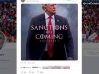 Glumele făcute pe seama posterului cu Donald Trump, inspirat de Game of Thrones