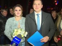 Mai mulți tineri au ales să se căsătorească în noaptea de Revelion, la Poarta Sărutului