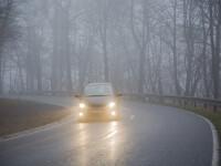 Cod galben de ceaţă densă în nouă judeţe, luni dimineaţa