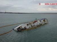Încep manevrele de readucere în poziția de plutire a navei din portul Midia. Câți bani a dat statul român