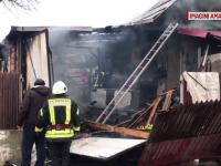 Incendiu la un atelier auto din Huși. Un angajat ar fi încercat să taie o butelie GPL