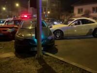 Unui șofer din Timișoara i s-a făcut rău la volan și a intrat în mai multe mașini parcate