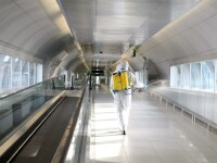 Măsuri împotriva coronavirusului. Fluxurile de pasageri din Aeroportul Otopeni, dezinfectate la 4 ore