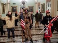 """""""Vikingul"""" de la Capitoliu a fost arestat alături de mai mulți manifestanți pro-Trump"""