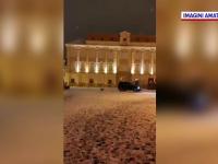 Drifturi cu mașină de lux în Piața Unirii din Timișoara. Reacția poliției