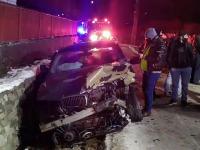 Impact violent pe o șosea din Argeș. O mașină a fost aruncată în șanțul de pe marginea drumului