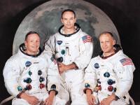 Armstrong, primul care a pasit pe Luna. Aldrin, primul care a urinat