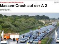 Carambol in Germania! 66 de raniti si 259 masini implicate