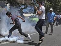 Protest soldat cu o baie de sange in capitala Iranului!