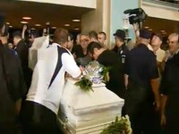 Slujba de inmormantare a Madalinei Manole, scurta si in afara bisericii
