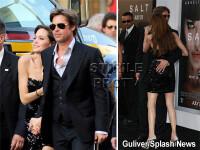 Angelina Jolie, mana in mana cu Brad Pitt! Bine, a lui a mai alunecat...