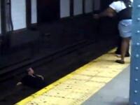 O lesbiana s-a aruncat in fata metroului dupa o cearta cu iubita! VIDEO