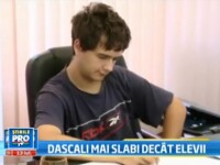 Experiment Stirile ProTV: Cum rezolva Vlad,un elev de 9,56 la BAC 2011,subiectele de la titularizare