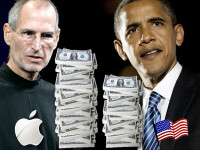 Steve Jobs il poate imprumuta pe Obama. Apple are o rezerva financiara mai mare decat cea a SUA