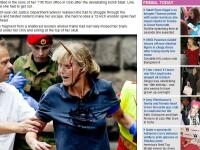 FOTO IMPRESIONANTA. Amintire de la asasinul din Oslo: un tarus de 30 de cm in craniu