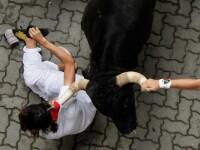 Imagini socante de pe cea mai sangeroasa strada din Europa. 5 raniti in festivalul de la Pamplona