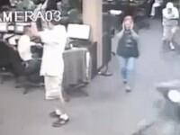 VIDEO. Momentul in care doi hoti au devenit victime. Au fost impuscati de un batran de 71 de ani