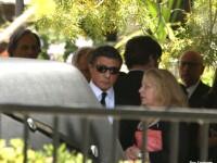 Sylvester Stallone, impietrit de durere la inmormantarea fiului sau, Sage