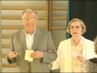 Ion Iliescu a votat la Liceul Jean Monnet. S-a intalnit cu sotia si fiii lui Adrian Nastase