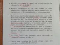 BACALAUREAT 2013. Conducerea unui liceu din Timisoara a picat proba scrisa la limba romana. FOTO