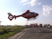 Accident cu sase victime pe drumul dintre Timisoara si Arad. Un sofer de 26 de ani a murit. FOTO