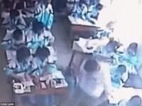 Lovita cu brutalitate in sala de curs pentru ca si-a pus capul pe banca. Incident violent in China