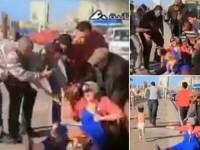 Farsa care a speriat zeci de barbati: un bebelus iese alergand de sub fusta unei femei insarcinate