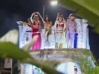 Spectacol la malul marii. Fete frumoase, muzica si scene din Roma Antica, la primul carnaval de la Mamaia