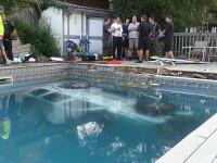 O soferita a ajuns de pe strada direct in piscina unui complex de apartamente. Cum s-a petrecut incidentul bizar