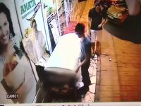 Hotii de inghetata, prinsi cu focuri de arma de politistii din Capitala. Imaginile au fost surprinse de camere