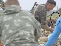 Momentul in care un separatist pro-rus \