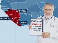 Sute de romani se tem de boala care pare sa fi scapat de sub control. Ebola a ucis 729 de oameni