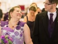 A petrecut 1.000 de ore pentru a-si croseta rochia de mireasa. Cum a aratat tanara in ziua cea mare: