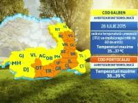 Vremea extremelor: cod portocaliu de canicula in sudul tarii, furtuni si vijelii in nord, centru si la munte