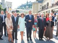 Klaus si Carmen Iohannis, la deschiderea oficiala a Festivalului de la Salzburg. Aparitia electrizanta a Primei Doamne