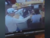 Jaful din banca din Bistrita a fost surprins de camere. Suspectul a fugit cu 19.000 de lei si este in continuare cautat